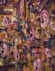 Ear Painting 2, 2007. Oil on canvas, 62 x 48 inches (157.5 x 121.9 cm). MP# 180
