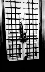 Untitled (interior apartment front door with bars 1938), 2000. Graphite and charcoal on mounted paper, 96 x 60 inches (243.8 x 152.4 cm). MP D-391