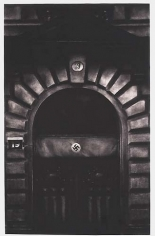 Untitled (exterior street door, Berggasse 19, Vienna  1938), 2000. Graphite and charcoal on mounted paper, 96 x 60 inches (243.8 x 152.4 cm). MP D-390