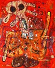 Roter Mann Edvard Munch, 2007. Oil on canvas. MP 26