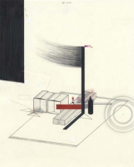 A Constructive Constructivism, 2003. Graphite, ball point pen, ink and colored pencil on paper, 10 1/2 x 8 inches. MP D-76
