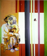 "from ""Jacqueline: The paintings Pablo couldn't paint anymore,"" 1996. Oil on canvas, 70-3/4 x 59 inches (179.7 x 149.8 cm). MP 121"