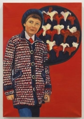 Crochet coat, 2010, Oil on canvas, 28.35 x 19.69 inches (72 x 50 cm). MP 72