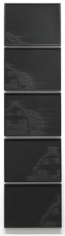 Amityville, 2010. Pigment and charcoal on paper, 5 panels, 19 x 25 inches (each panel) (48.3 x 63.5 cm). MP D-382