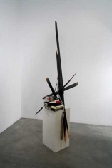 Night Reading, 2007. Wood, paper, 95 x 24 x 37 inches (241.3 x 61 x 94 cm). MP 11