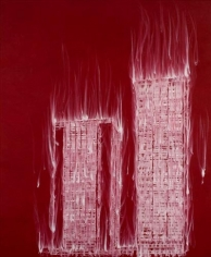 Gary Simmons, Double Cinder, 2007. Pigment, oil paint and cold wax on canvas, 102 x 84 inches (259.1 x 213.4 cm). MP 183