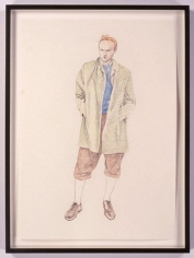 TinTin 6, 2005. Colored pencil drawing on paper, 23.4 x 16.5 inches. MP D-12