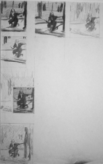 Study for Echo, 1987. Graphite on paper, 17 x 14 inches. MP D-330