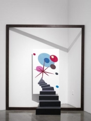 Nova Nomad, 2010. Acrylic on aluminium, wood frame, 86 5/8 x 78 3/4 inches (220 x 200 cm). MP 56