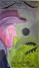 Phantom Creatures, 2006. Oil on board, 20.28 x 11.61 inches (51.5 x 29.5 cm). MP 1