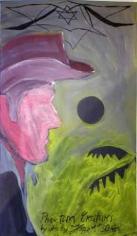 Phantom Creatures, 2006. Oil on board, 20.28 x 11.61 inches (51.5 x 29.5 cm). MP 1