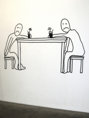 Not Even a Drink Makes it Better, 2009. Wall drawing, 57 x 98 inches (144.8 x 248.9 cm). MP 67