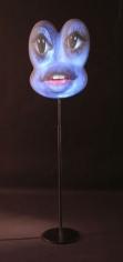 Bluebit, 2006. Fiberglass sculpture on stand, Plus projector, tripod, dvd player, 2 dvds, 1 master tape, 59 x 16 x 8 inches (149.9 x 40.6 x 20.3 cm). MP 470
