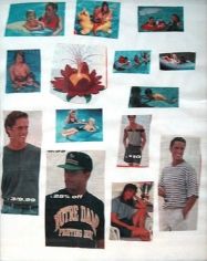 Mike Kelley, Family of the Lotus, 1995. Collage on paper, 14 x 10-5/8 inches. MP 9530