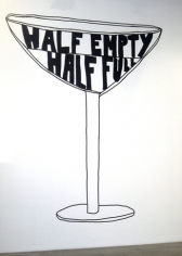 Half Empty / Half Full, 2009. Wall drawing, 147-1/2 x 119 inches (372.1 x 302.3 cm). MP 65