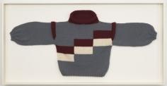 Sweater 3 (Ela), 2010. Wool sweater, 35 x 68 1/2 x 3 3/4 inches (framed) (88.9 x 174 x 9.5 cm). MP 81