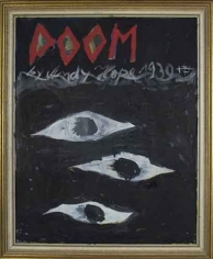 Doom, 2007. Oil on board, 11-3/4 x 14-1/8 inches (image) (26 x 35.2 cm). MP 12