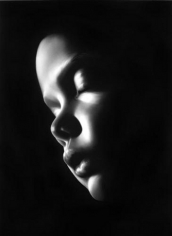Untitled (Hector), 2007. Charcoal on paper, 96 x 70 inches (image) (243.8 x 177.8 cm); 100-1/2 x 74-1/2 inches (frame) (252.7 x 186.7 cm). MP D-802