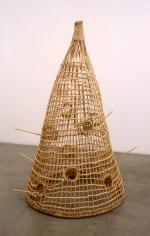 Wood Fowl Trap, 1998. Metal, wood, 102-3/4 x 24 x 24-1/2 inches. MP 9