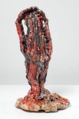 Stark Ballux, 2007. Ceramic, formica pedestal; sculpture: 20 x 11 x 12 inches (50.8 x 27.9 x 30.5 cm); pedestal: 40 x 20 x 20 inches (101.6 x 50.8 x 50.8 cm). MP 32