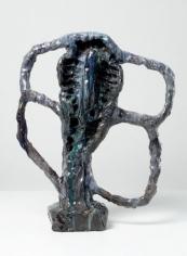 Clover Dear, 2007. Ceramic, formica pedestal. Sculpture: 20 x 17 x 18 inches (50.8 x 43.2 x 45.7 cm); pedestal: 40 x 20 x 20 inches (101.6 x 50.8 x 50.8 cm). MP 36