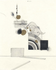 All Eyes on Me, 2003. Graphite, colored pencil and gold ink on paper, 10 1/2 x 8 inches. MP D-64