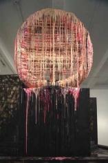 Recondite (detail), 2007. PVC pipe, plastic urethane, wood, aluminum, spray paint, 183 x 336 x 168 inches (464.8 x 853.4 x 426.7 cm).