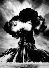 Russian Bomb (Them)/ Semipalatinsk, 2003. Charcoal on mounted paper, 96 x 70 inches. MP D-541