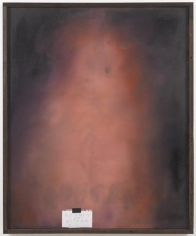 Vacant Portrait: Rousseau, 2011. Oil and collage on canvas, 45 3/4 x 37 5/8 inches (frame size) (116.2 x 95.6 cm); 44 1/2 x 36 inches (image size) (113 x 91.4 cm). MP 22