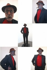 Incognito, 2003. Plaster, foam, plastic, acrylic cloth and human hair, 73.23 x 29.53 x 19.69 inches (model); 240.55 x 24.02 x 3.94 inches (base). MP 28