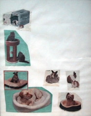 Mike Kelley, Child Substitute, 1995. Collage on paper, 14 x 10-5/8 inches. MP 9532