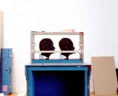 2 Heads, 2004. Digital cibachrome (museum mounted), 40 1/2 x 52 1/2 inches. Edition of 5. MP 530