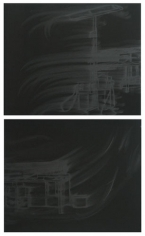 Station to Station, 2010. Pigment and charcoal on paper, 2 panels, 19 x 25 inches (each) (48.3 x 63.5 cm). MP D-390