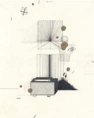 A Breezy Afternoon, 2003. Graphite and gold ink on paper, 10 1/2 x 8 inches. MP D-69