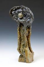 Cobra, 2007. Ceramic, bronze, formica pedestal. Sculpture: 23 x 10.5 x 5 inches (58.4 x 26.7 x 12.7 cm); pedestal: 40 x 20 x 20 inches (101.6 x 50.8 x 50.8 cm). MP 25