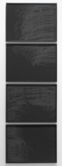Psycho Spin, 2010. Pigment and charcoal on paper, 4 panels, 19 x 25 inches (each panel) (48.3 x 63.5 cm). MP D-387