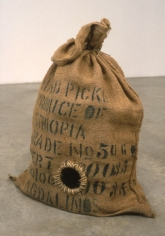 Rat Trap, 1995. Cloth bag, metal, 26-1/2 x 27 x 17 inches. MP 15