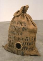 Rat Trap, 1995. Cloth bag, metal, 26-1/2 x 27 x 17 inches. MP 15