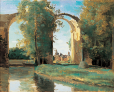 Jean-Baptiste-Camille Corot Château de Maintenon Private Collection Nicholas Hall Art Gallery Dealer Old Masters