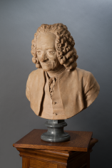 Jean-Antoine Houdon Portrait Bust of Voltaire Private Collection Nicholas Hall Art Gallery Dealer Old Masters
