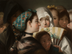 Lorenzo Tiepolo Tipos Populares de Madrid Private Collection Nicholas Hall Art Gallery Dealer Old Masters