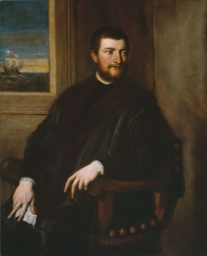 Tiziano Vecelli, called Titian Portrait of a Merchant Private Collection Nicholas Hall Art Gallery Dealer Old Masters