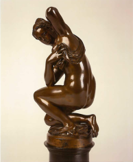 Antonio Susini after a model by Giovanni Bologna, called Giambologna The Crouching Venus National Gallery of Art, Washington D.C. Nicholas Hall Art Gallery Dealer Old Masters