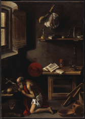 Pensionante del Saraceni Saint Jerome in an Interior National Gallery of Canada, Ottawa Nicholas Hall Art Gallery Dealer Old Masters