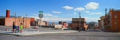 Street Corner, Butte, Montana, 2003, C-print, 49 x 119 1/2  inches