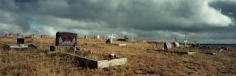 Indian Cemetery, Montana, 2000, C-print, 70 1/8 x 176 inches