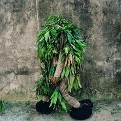 Phyllis Galembo Minor Ekpe Masquerade with Mango Leaves