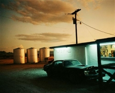 Flammable, Terlingua, Texas, 1983, C-print, 49 x 55 1/2 inches