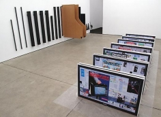 Simon Denny Installation view