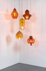 Untitled 2013 Set of Five glass lamps